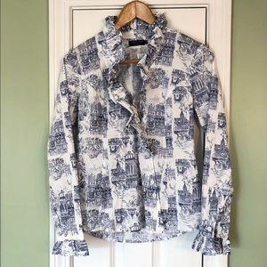 Susanne Spatt Alice Shirt Rome Print Ruffle Blouse